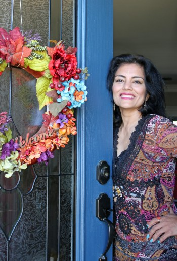 Shehnaz by door